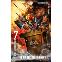 Five Finger Death Punch Textile Poster: And Justice For None