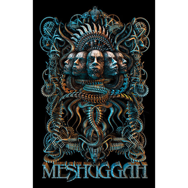 Meshuggah Textile Poster: 5 Faces