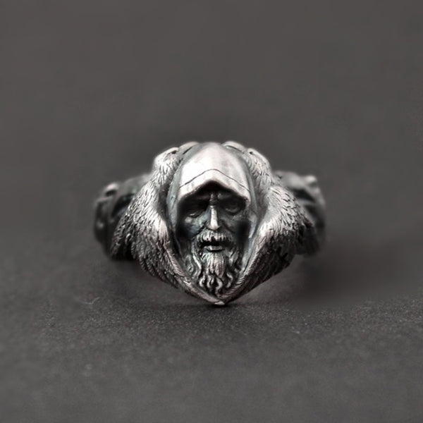 Stainless Steel Norse Mythology Odin Ring