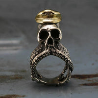 Stainless Steel Octopus Captain Steampunk Ring