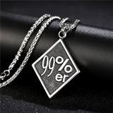 Stainless Steel 1%er/99%er Biker Necklace