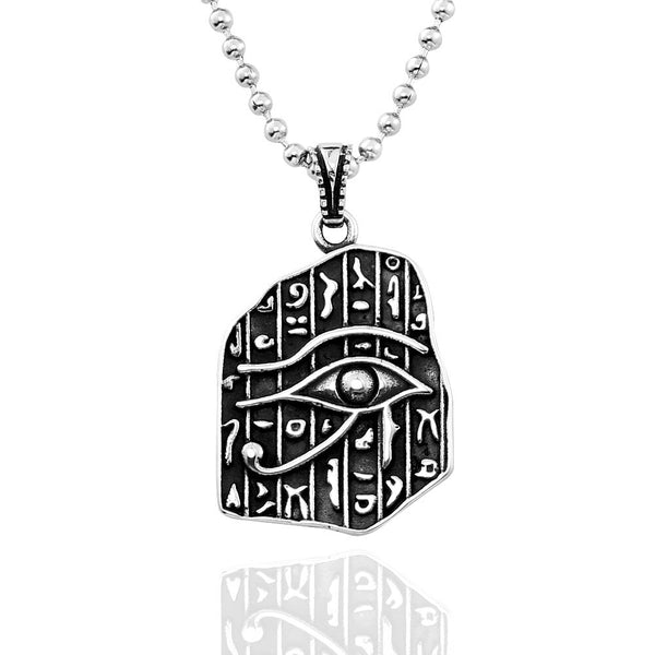 Stainless Steel The Eye of Horus Necklace