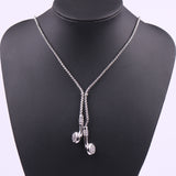 Mens Hiphop Silver Tone Earbuds Headphones Necklace - biker-rings.co.uk