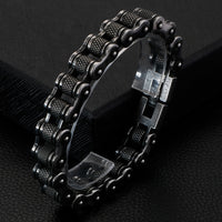 Retro Heavy Stainless Steel Motorcycle Chain Bracelet Male 11-13MM Wide 23cm Long