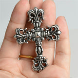 Vintage Gothic Cross Statement Necklace - biker-rings.co.uk