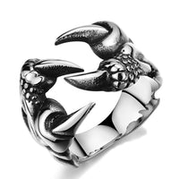 Vintage Gothic Biker Stainless Steel Dragon Claw Ring - biker-rings.co.uk