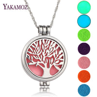 Tree Of Life Diffuser Locket Pendant Aromatherapy Essential Oil Perfume Necklace - biker-rings.co.uk