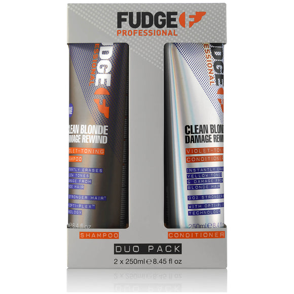 Fudge Clean Blonde Damage Rewind Duo Pack - haristylershop