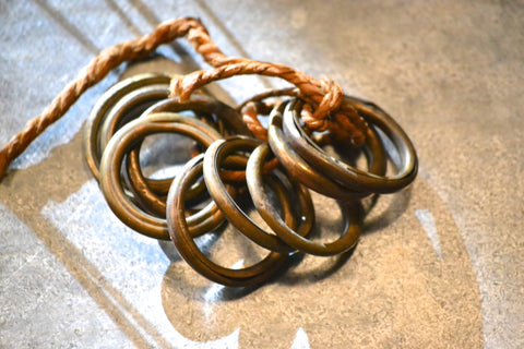 brass curtain rings set/9