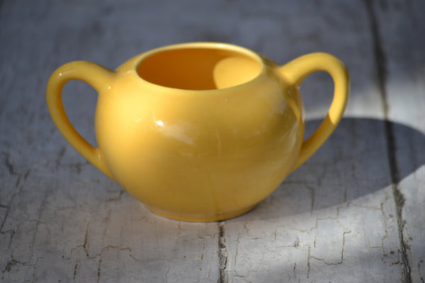 yellow sugar bowl