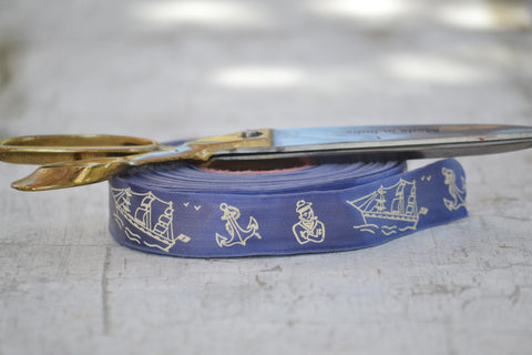 blue & cream sailor ribbon