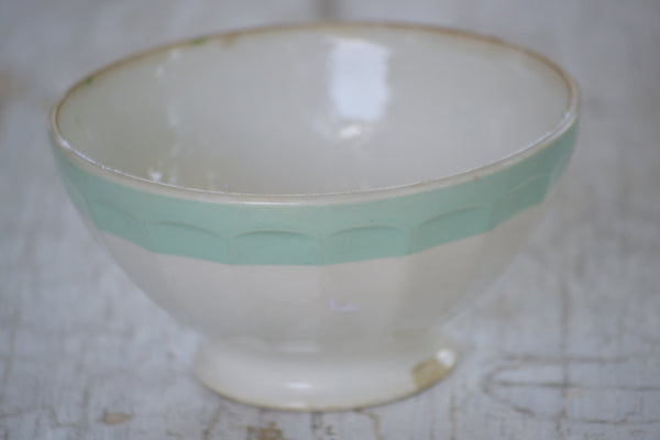 mint and white cafe au lait bowl