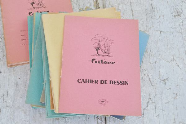 french school notebooks set/3