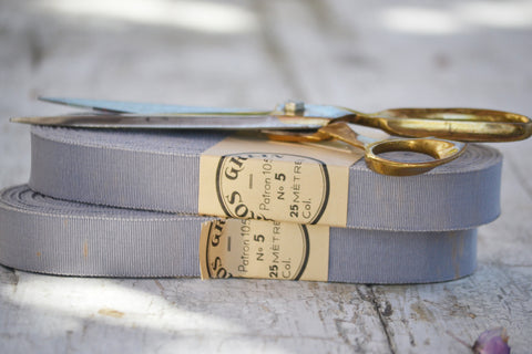 dove gray grosgrain ribbon