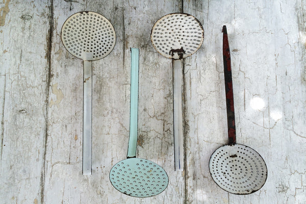 french enamel strainers