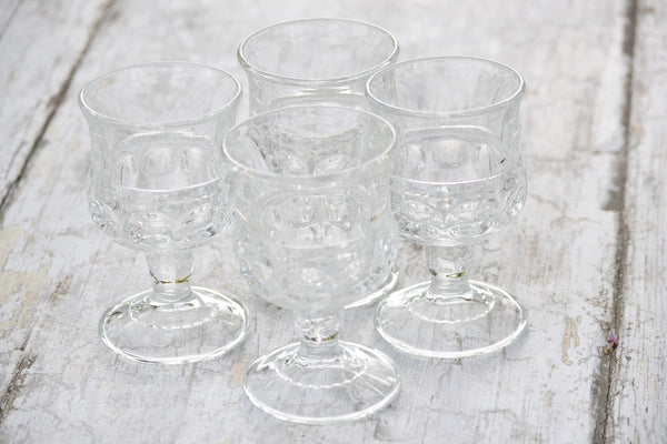 small glass goblets set/4