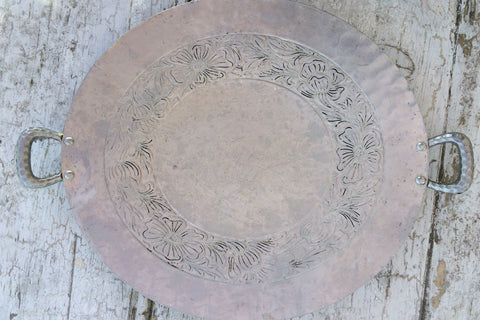 hand forged metal tray