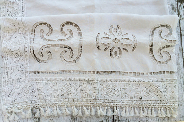 lace fringe curtain panel