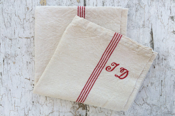 """td"" striped towel"