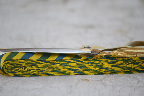 yellow stripe tie ribbon