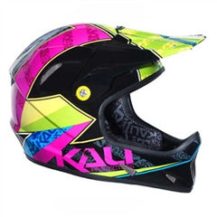 KALI AVATAR CARBON COMPOSITE HELMET MOUNTAIN BIKE FULL FACE TAPE FLURO