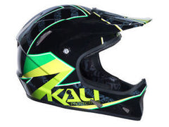 KALI AVATAR CARBON COMPOSITE HELMET MOUNTAIN BIKE FULL FACE TAPE BLACK GREEN