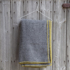 YELLOW STITCH BLANKET