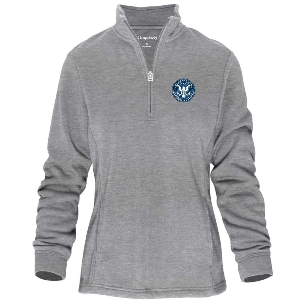 Library Seal Ladies Quarter-Zip