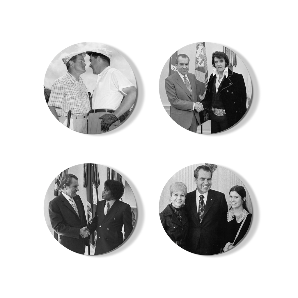 American Icons Buttons - Set of 4