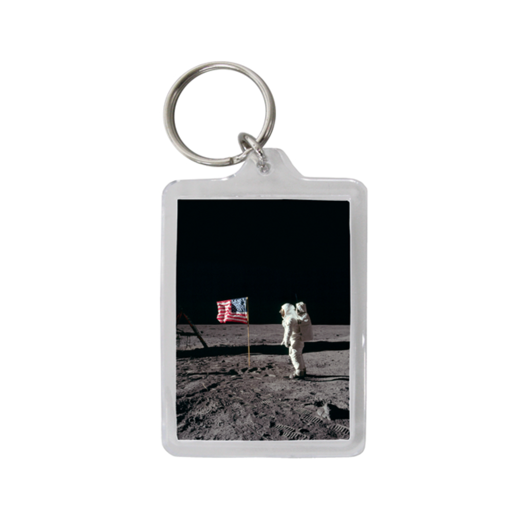 Apollo 11 Keychain - Buzz Aldrin Salutes the American Flag