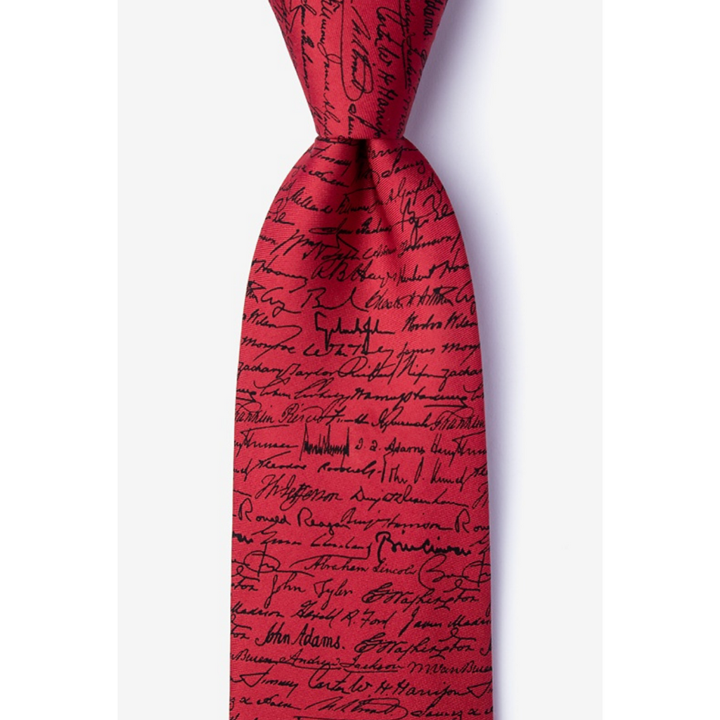 U.S. Presidential Signature Tie - Red