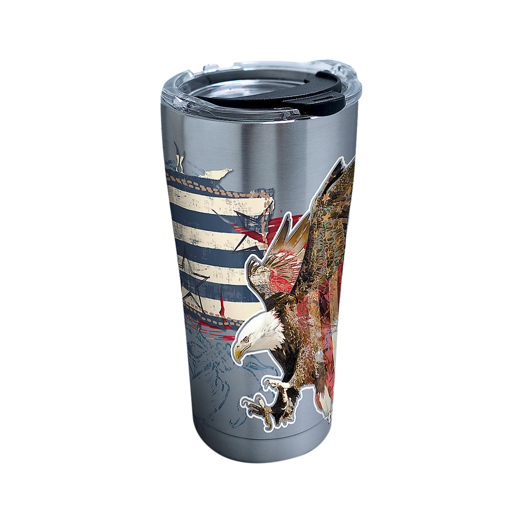 Americana Distressed Flag Travel Tumbler