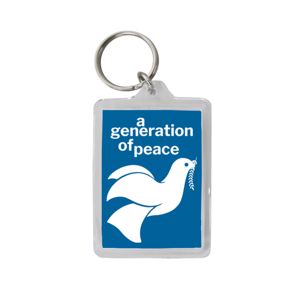 A Generation of Peace Keychain