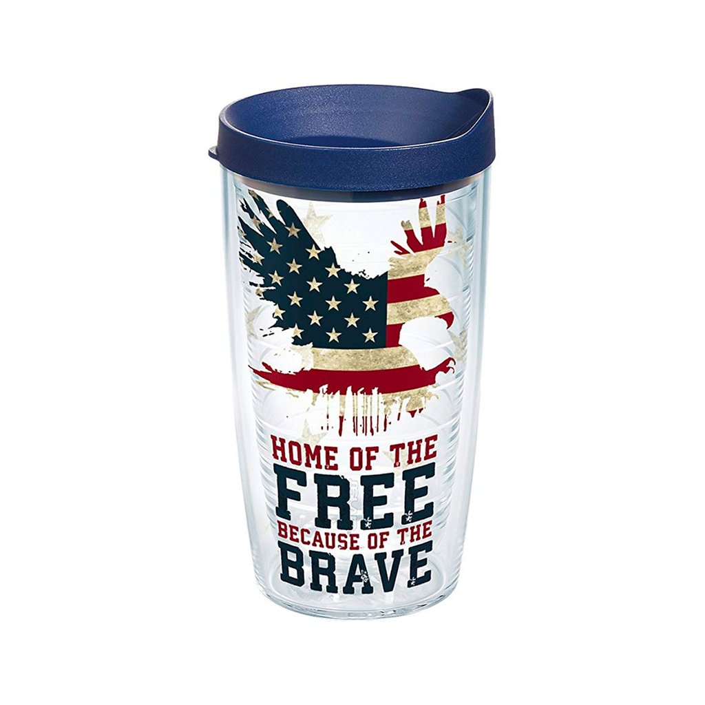 Home of the Free Because of the Brave Travel Tumbler