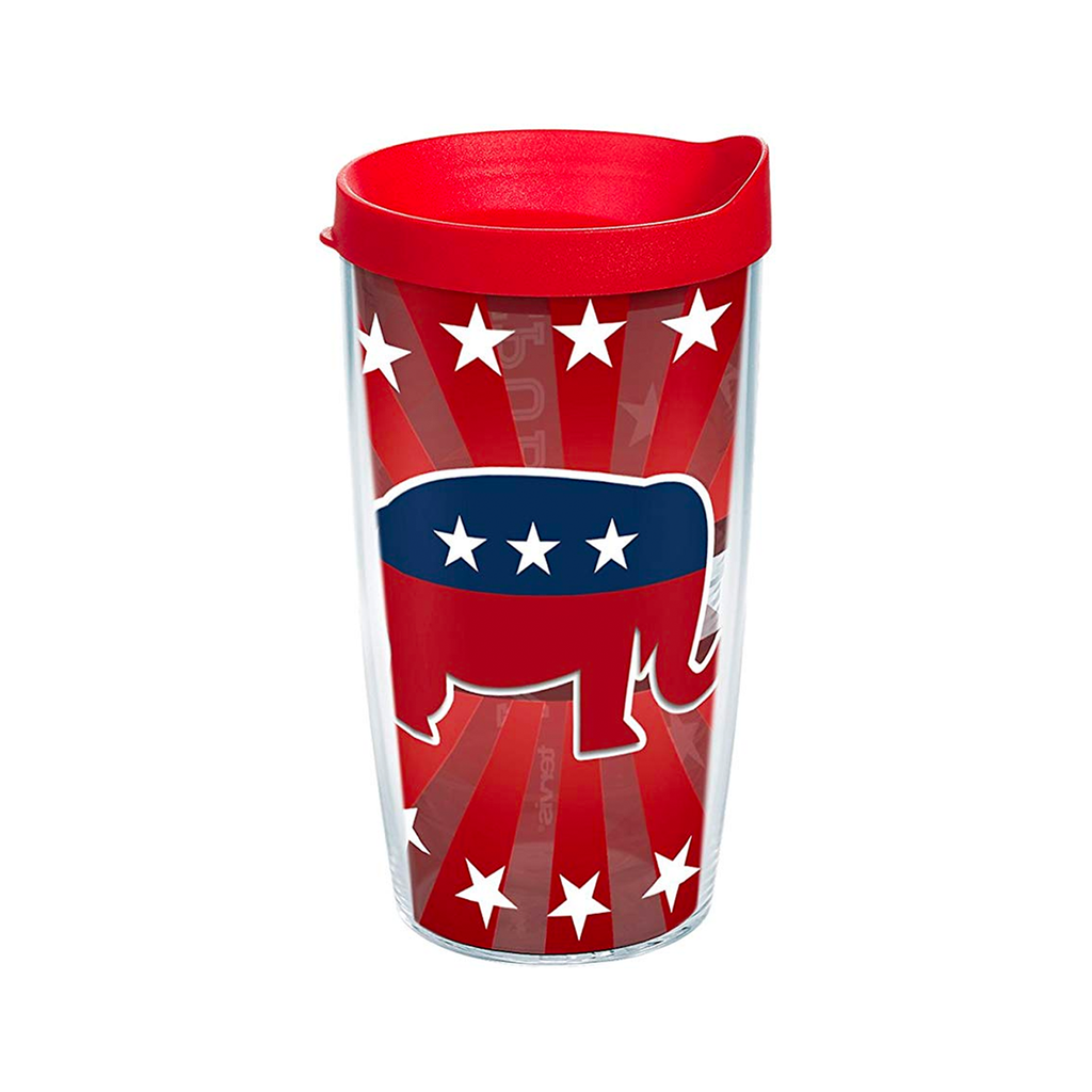Republican Elephant Travel Tumbler