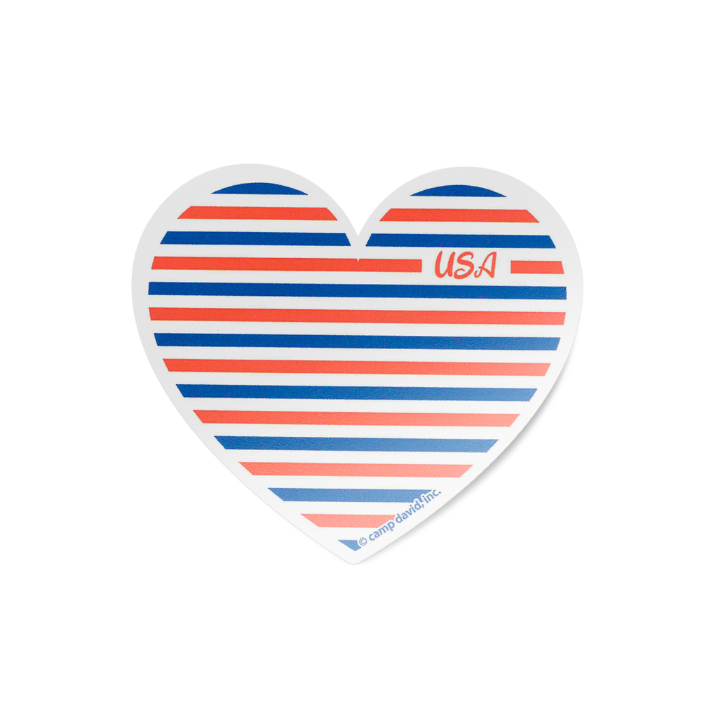 USA Heart Sticker