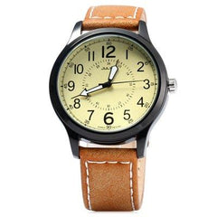 Julius Luminous Men's Quartz Watch Genuine Leather Band