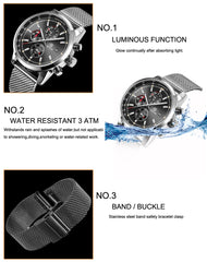 Multi-Function Chronograph Dress Watch