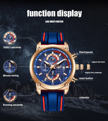 New Creative Design Stainless Steel Chronograph Sportwatch for Men