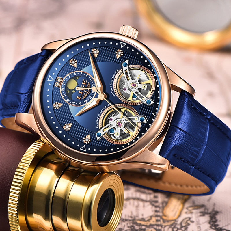 New 2020 Shock Resistant Double Flywheel Mechanical Dress Watch