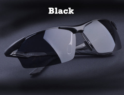 Ultralight Polarized Sunglasses in Aluminum Magnesium Alloy Frame