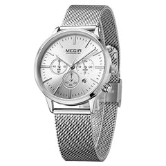 Multi Function Chronograph Stainless Steel Watch