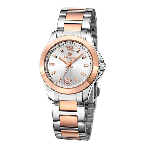 Two Tone or Solid Stainless Steel Womens Watches