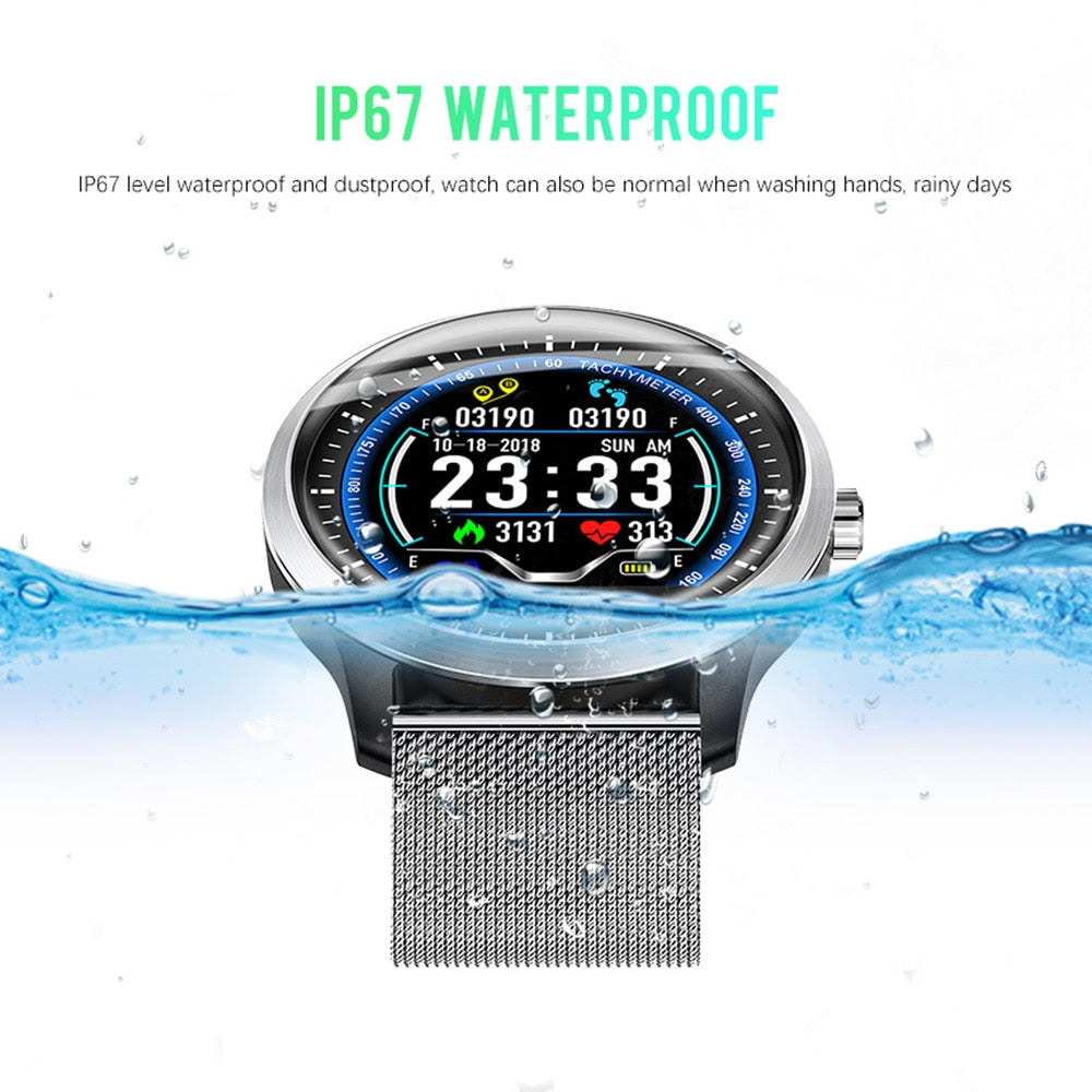 New 2019 ECG + PPG IP67 Waterproof Smartwatch with Heart Rate & Blood Pressure Monitoring