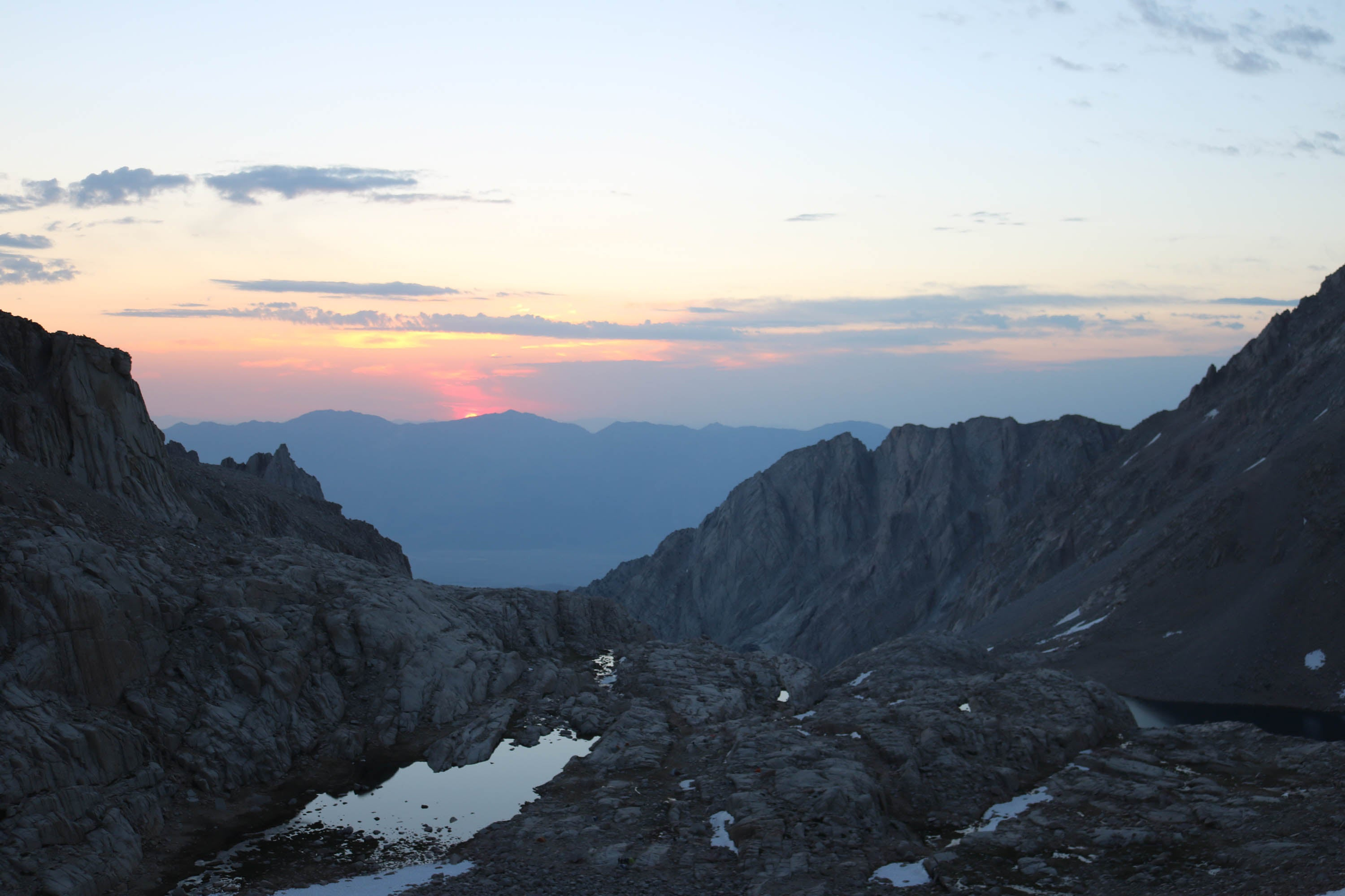 Sun Rise from begining of 99 switchbacks on Mt. Whitney