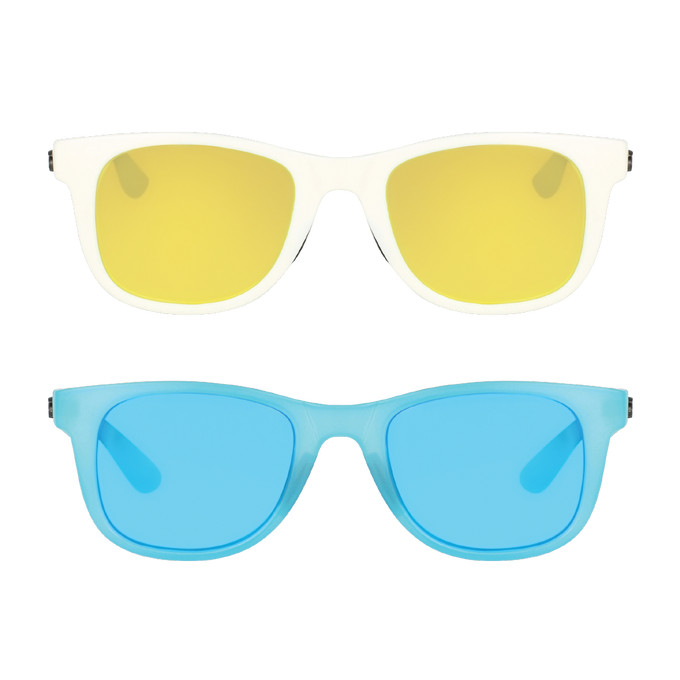 Classic - 2-Pack - (White/Sun Gold, Clear Blue/Ocean Blue)