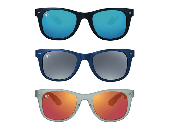 Classic - Sunset 3-Pack - (Black/Ice Blue, Navy/Grey Mirror, Clear Grey/Fire Red)