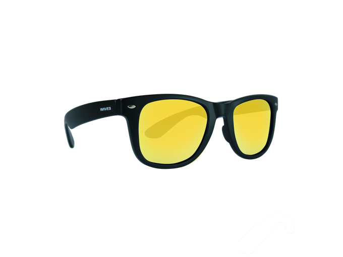 Waves Floating Sunglasses Reflective Black/Sun Gold