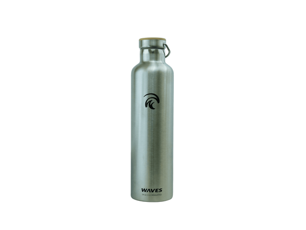 Forever Cold Water Bottle Silver Waves Gear