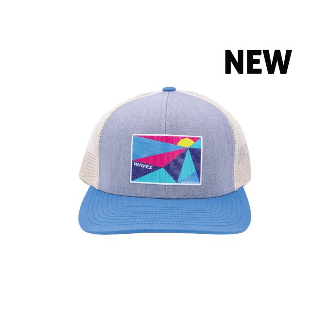 Waves Retro Trucker Hat (Sunset)